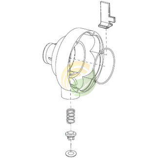 Pump housing assembly image.