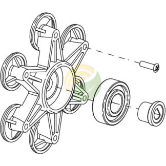 Wobble plate assembly image.